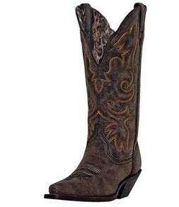 """NEW LAREDO BOOTS Women's ACCESS 12"""" Black Tan Leather Wester"""
