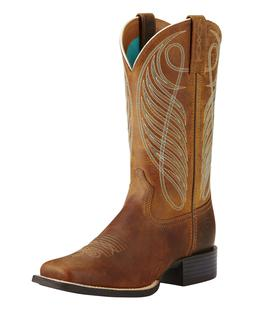 NEW_Ariat Women's Round Up Western Boots Brown #10018528