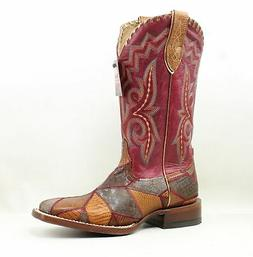 New Ariat Womens Reese Red Cowboy, Western Boots Size 7