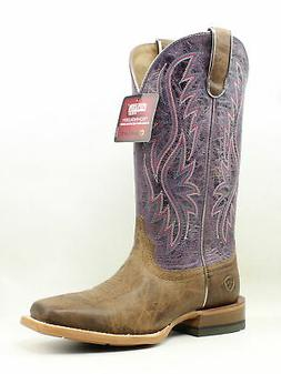 New Ariat Womens Rosa Purple Cowboy, Western Boots Size 7
