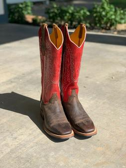 New Cinch Womens Rustic Red Western Boots Size 8B