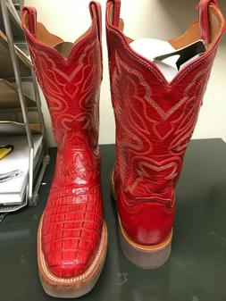 NIB Lucchese Red Women's Cowboy Boots 8 1/2 B Style LT4534KD