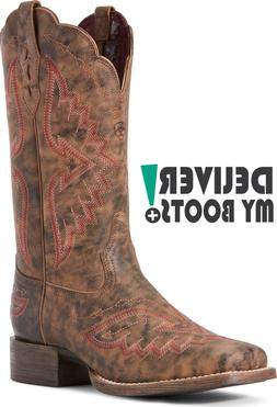 *NIB* Women's Ariat Round Up Santa Fe Western Boots 10027393
