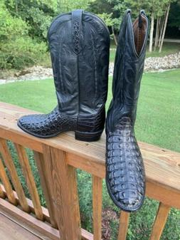 NWOT- NOCONA Black EXOTIC ALLIGATOR MENS COWBOY BOOTS.  Size