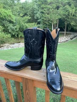 NWOT~ Lucchese Classic Black Western Cowboy Boots. Size 10 1