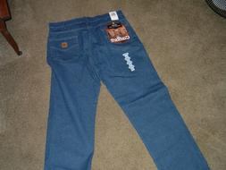 Carhartt 38x30 Straight Western Cut Fit Blue Jeans $19.99