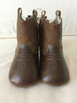 NWT Baby Deer Infant Western Cowboy Boots Size 3 6-9M Baby C