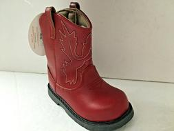NWT Red Baby Deer Western Cowboy Boots Size 5 Toddler Boys G