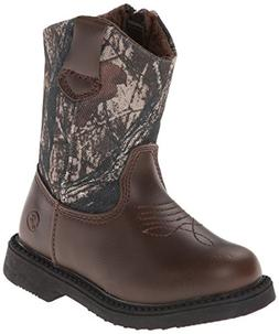 Northside Partner Cowboy Boot , Brown Camo, 9 M US Toddler
