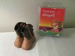 OLD WEST POPPETS INFANT COWBOY BOOTS BOOTIES SIZE 6 - 9 MONT