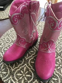 Disney Princess Pink Sparkle Cowboy Cowgirl Boots - Toddler