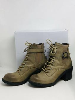 Coconuts By Matisse Quiglee Tarnished Look Lace-Up Boots Bro