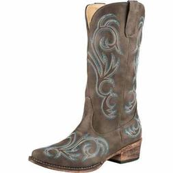 riley casual western brown womens