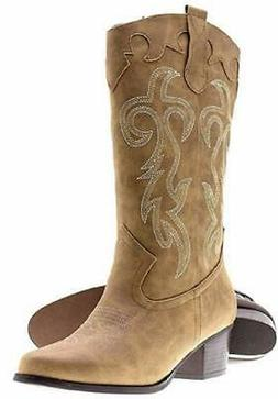 shoes 18 womens faux leather western cowboy