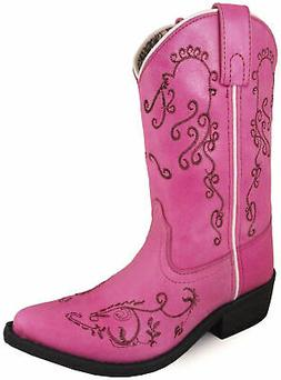 Smoky Mountain Childrens Girls Jolene Pink Leather Cowboy Bo