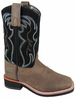 Smoky Mountain Childrens Unisex Alex Brown/Black Leather Cow