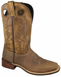 Smoky Mountain Mens Timber Brown Leather Cowboy Boots