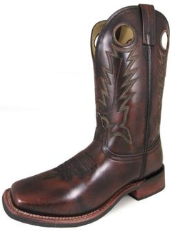 Smoky Mountain Mens Western Cowboy Boots Landry Pull On Stit
