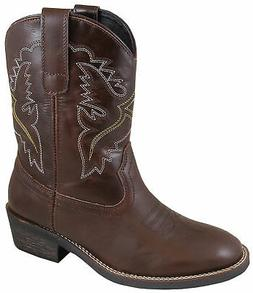 Smoky Mountain Womens Grove Brown Leather Cowboy Boots