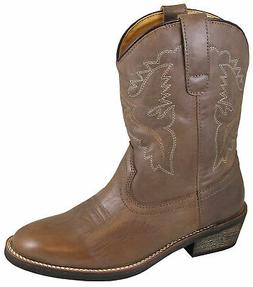 Smoky Mountain Womens Grove Gray Leather Cowboy Boots