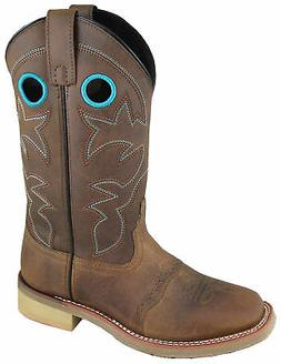 Smoky Mountain Womens Hayden Brown Leather Cowboy Boots