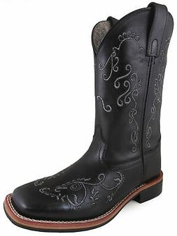 Smoky Mountain Womens Marilyn Black Leather Cowboy Boots
