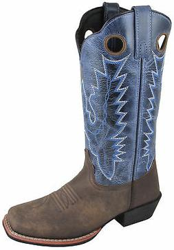 Smoky Mountain Womens Mesa Brown/Navy Leather Cowboy Boots