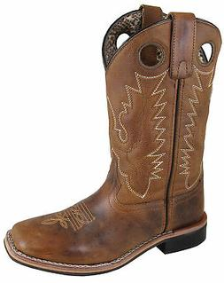 Smoky Mountain Womens Napa Brown Leather Cowboy Boots