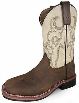 Smoky Mountain Youth Boys Scout Brown/Cream Leather Cowboy B