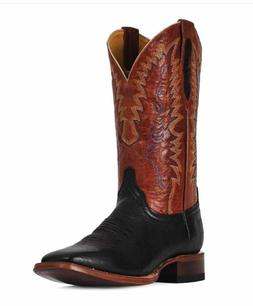 CINCH Smooth Ostrich Square Toe Handcrafted Cowboy Boots CFM