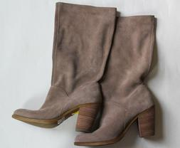 LUCKY BRAND SUEDE COWBOY BOOTS WESTERN SOFT SLOUCHY sz 9