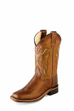 7e8c19734fc Old West Tan Youth Girls Corona Leather ...