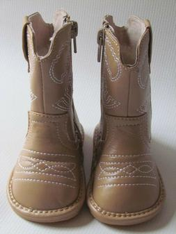 Toddler Boots - Squeaky Boots - Light Brown Cowboy/Cowgirl B