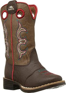 Double Barrel Toddler-Boys' Kolter Zip Cowboy Boot Square To