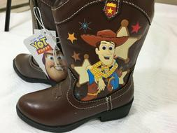 Disney Toy Story Cowboy Boots Zipper Toddler Size 10