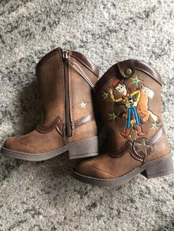 Disney Toy Story WOODY Toddler Boy's Western Cowboy Boots Br