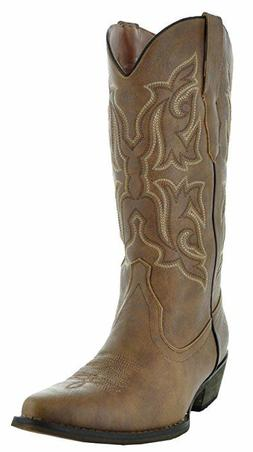 COUNTRY LOVE W101-1001 BROWN WOMEN'S COWBOY BOOTS - 10 US