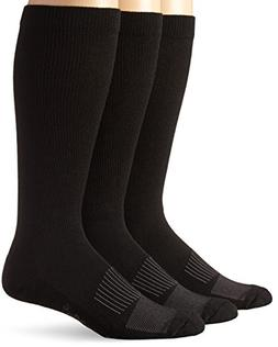 Wrangler Men's Western Boot Socks ,Black,Sock Size:Large/Sho