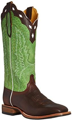 Cinch Western Boots Men EverSole Square Dark Brown Green CFM
