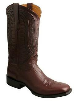 """Twisted X Western Boots Mens 13"""" Wide Square Toe Leather Bro"""