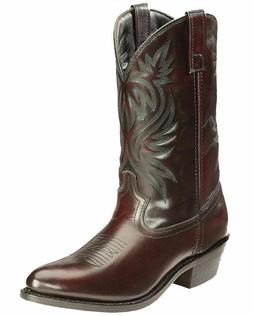 Laredo Western Boots Mens London Round Toe Cowboy Black Cher