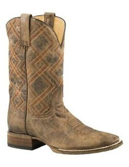 Roper Western Boots Mens Nash Pull On Brown 09-020-7018-0709