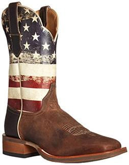 Cinch Western Boots Mens National Flag Square Toe CEM143