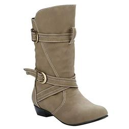 NEARTIME Women Fashion Leather Boots Ladies Solid European W