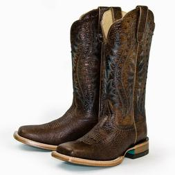 Ariat Women's Brown Montage Square Toe Western Cowboy Boots