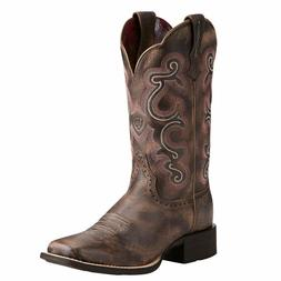 Ariat Women's Chocolate Brown Quickdraw Square Toe Western B