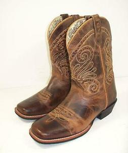 Women's Smoky Mountain Boots Distressed Short Cowboy  Boots