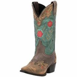 Laredo Women's Miss Kate Western Cowboy Leather Boots Brown