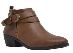 TOETOS Womens PITTS-01 New Casual Cowboy Low Chunky Heel Sid