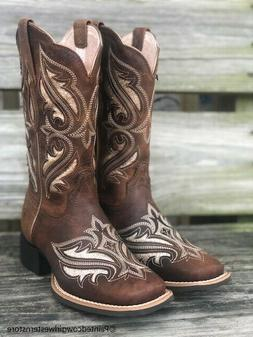 Ariat Women's Round Up Bliss Sassy Brown Square Toe Western